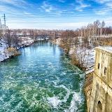 река Черепетка на выходе из плотины