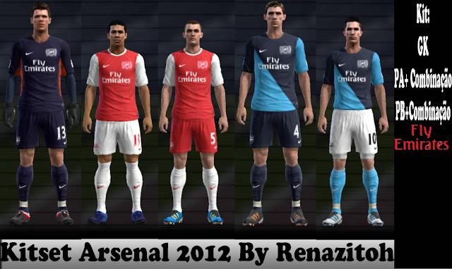 Arsenal 11-12 Kitset - PES 2012