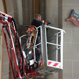 Lichtinstalltion in der alten Kirche 17.04.2009