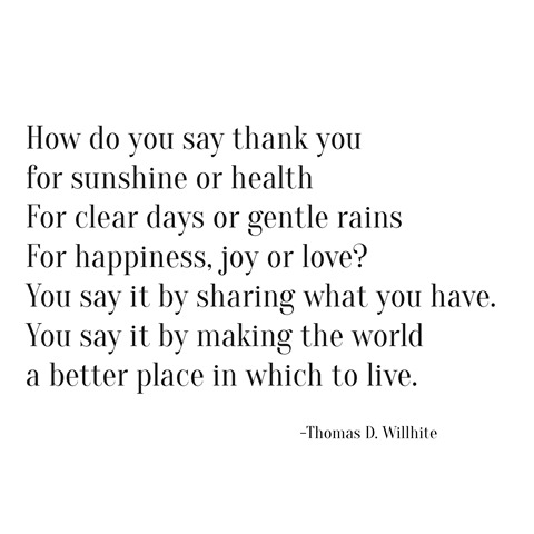 how do you say thank you -- willhite