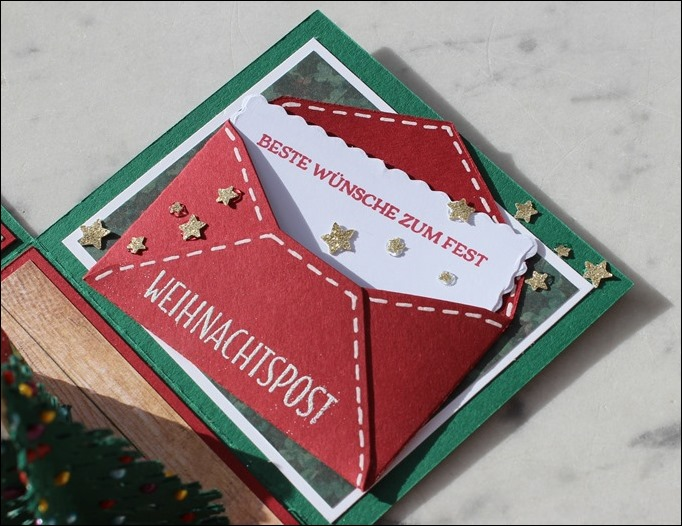 Explosion Box Weihnachten Christmas Poinsettia Christbaum Stampin Up Es weihnachtet sehr 02