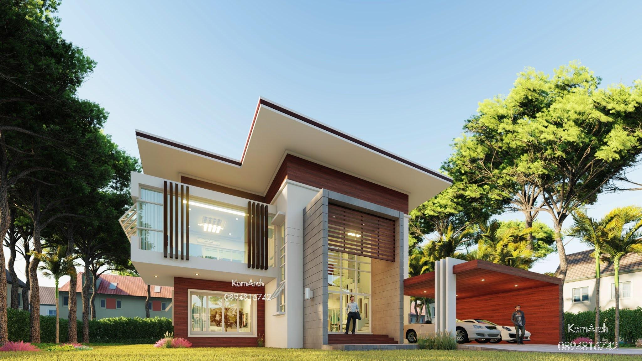แบบบ้าน 2 ชั้น เจ้าของอาคาร คุณดาริกา วิเศษสมบูรณ์ สถานที่ก่อสร้าง ต.หนองสาหร่าย อ.พนมทวน จ.กาญจนบุรี