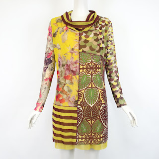 Jean Paul Gaultier Soleil Cowl Neck Dress