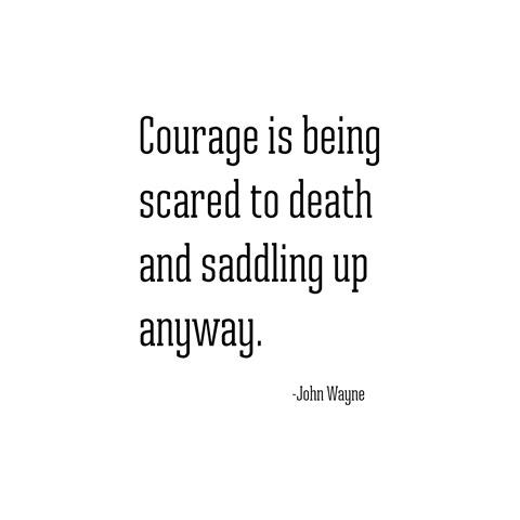 courage --  john wayne