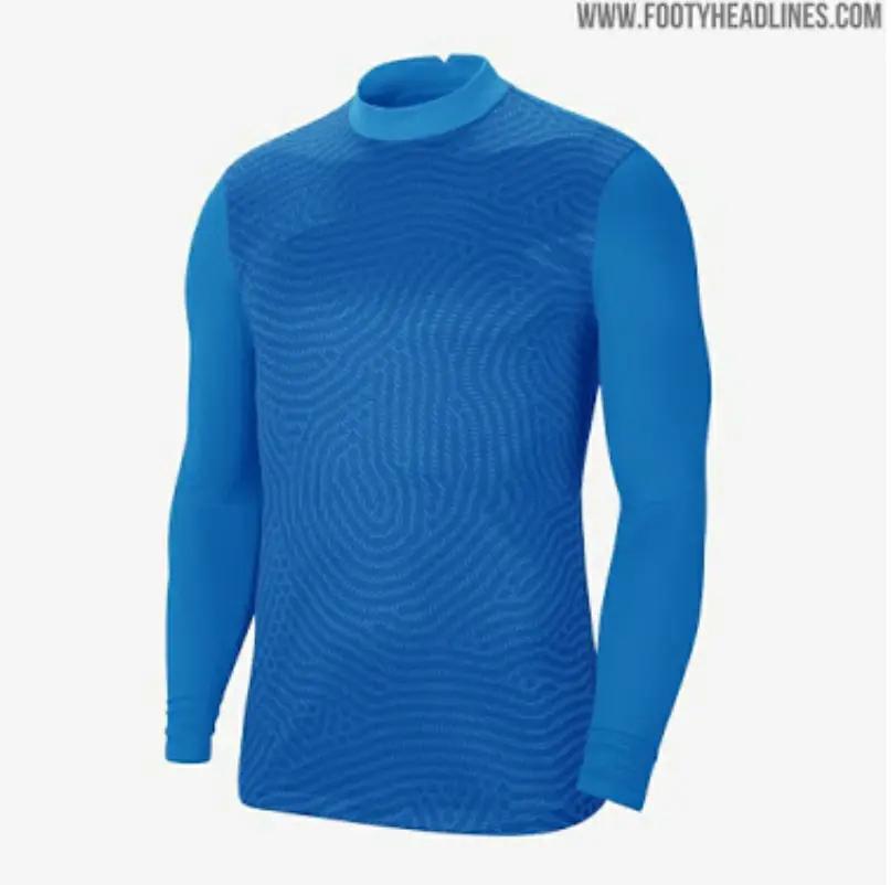 gambar jersey bocoran tampilan lain template jersey kiper nike musim 2020-2021