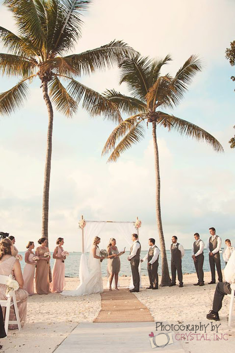 moon beach wedding in the florida keys fl keys wedding ideas key