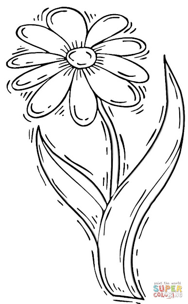 Click The Daisy Flower Coloring Pages