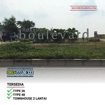 Gerabang Perumahan Rexvin Boulevard Tembesi