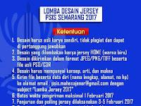 Lomba desain jersey PSIS Semarang 2017