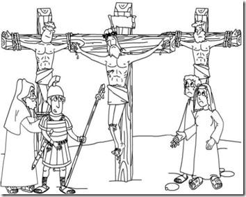 Dibujo para pintar lla Crucifixión de Jesús