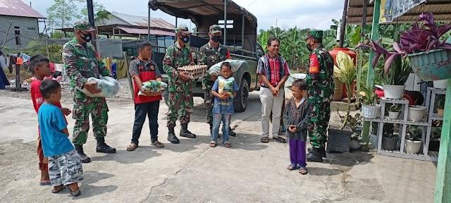 Ramadhan Berkah, Danramil Penajam Serahkan Sembako Ke Yayasan Panti Asuhan Uswatun Hasanah