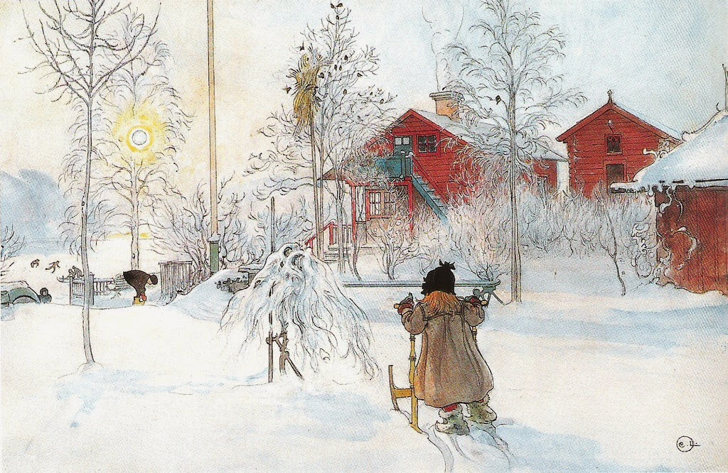 Carl Larsson - Front Yard And The Wash House 1899