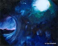 'Welle3', Öl auf Leinwand, 37x30, 2003, verkauft
