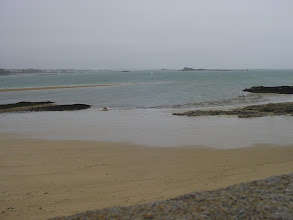Photo: Looking out to the Channel, at a time of fairly low tide.