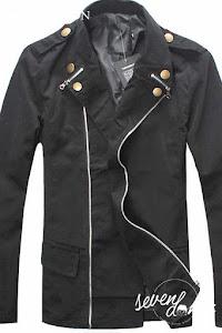 seven domu jacket korea double zipper sk08 2