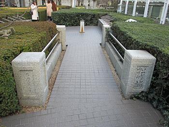 松竹橋の親柱