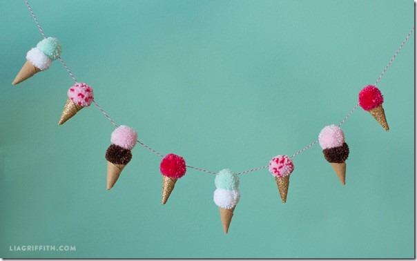 Pom_Pom_Ice_Cream_Cone_Garland