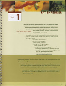 Cover of Tony Horton's Book Nutrition Guide Phase 1 Fat Shredder