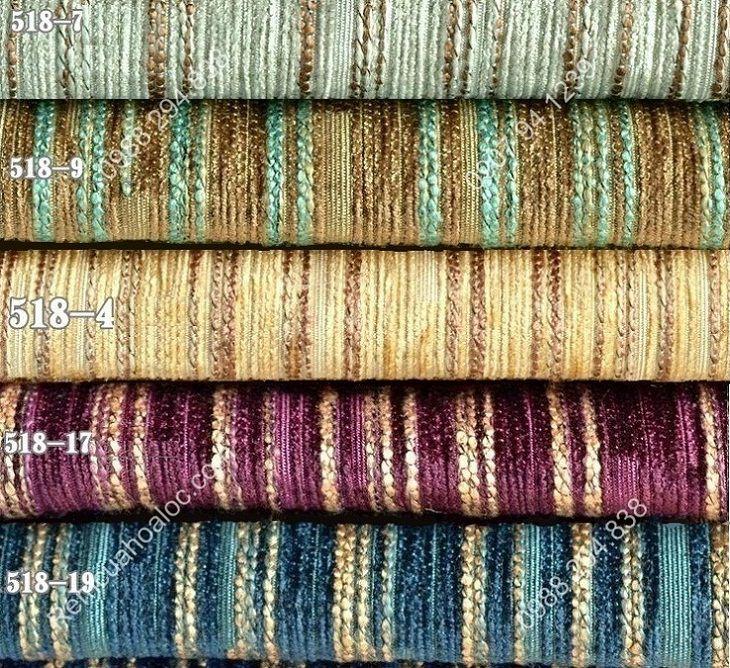 Rèm vải đẹp cao cấp nhung nỉ kẻ một màu 2