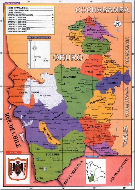 Provincia Tomás Frías: departamento de Potosí (Bolivia)
