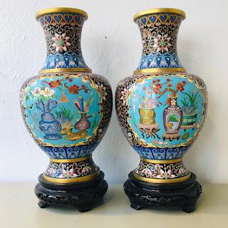 Cloisonne Vase Pair