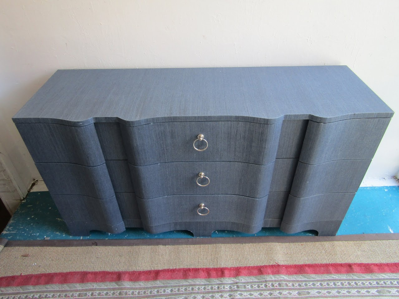 Grass Cloth Finished Dresser