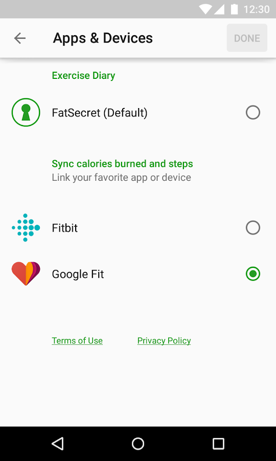 Calorie Counter by FatSecret- screenshot