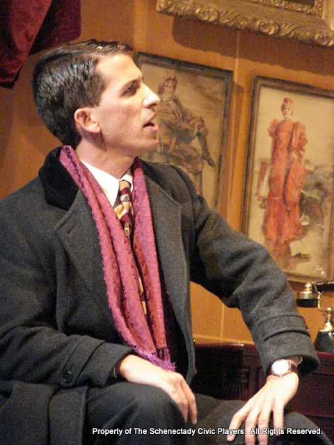 James Dick in THE ROYAL FAMILY (R) - December 2011.  Property of The Schenectady Civic Players Theater Archive.