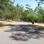Trail with garage bin in the distance in Richley Reserve (401719)