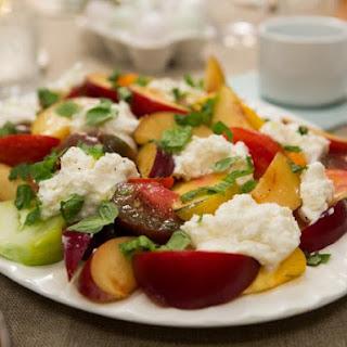 Plum Caprese Salad Recipe