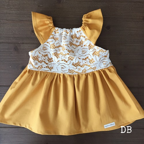 Handcrafted Baby Girl Boho Twirl Dress in Yellow and Lace by Daydream Believers Designs Boho Fashion