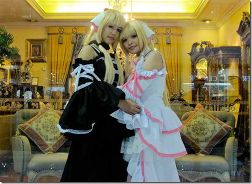 chobits cosplay - freya and elda (chi) by mimi