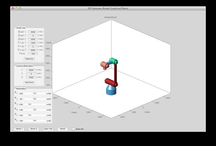 3D Yaskawa Robot Arm (Matlab)