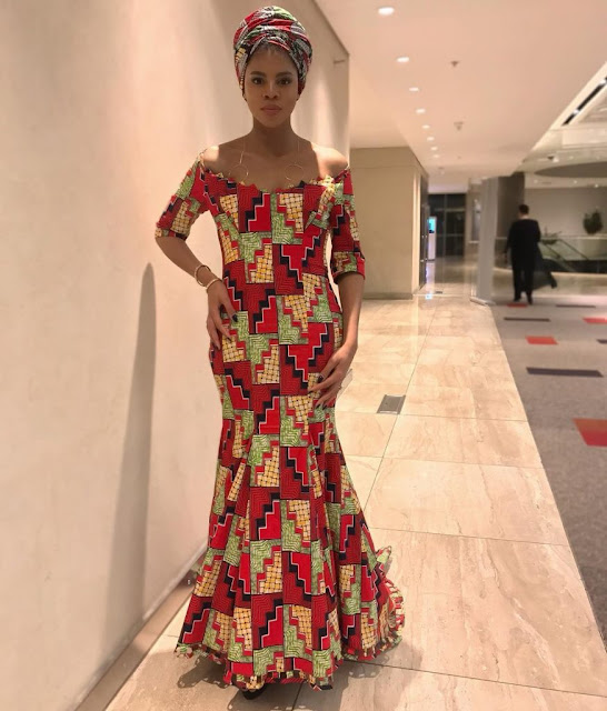 Long elegant ankara dresses Long elegant ankara dresses