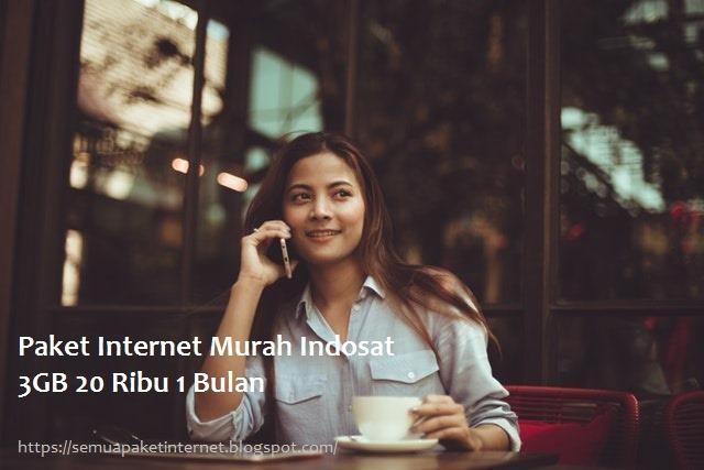 Paket Internet Murah Indosat 20 ribu 3GB