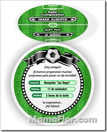 Invitaciones Personalizables de Pelota Futbol