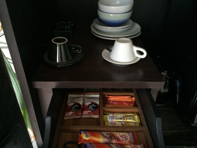 complimantary pantry items ,room at yaiya resorts, hua hin, thailand