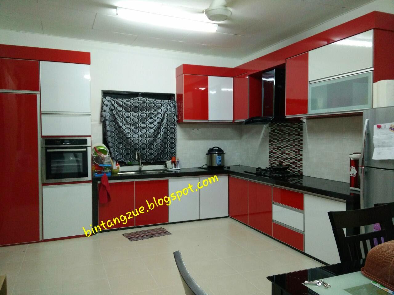 Kabinet Dapur Ku Merah Putih Hitam A Nak Update Gambar Yang Dah Siap Sangat Hy Tunggu Cuti Jahit Langsir