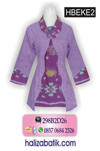 model baju batik terkini, batik kerja wanita, baju batik