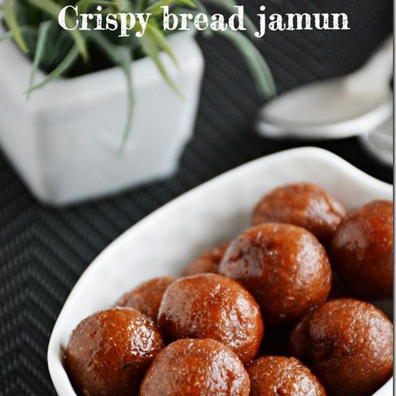 Crispy bread jamun / Bread jamun dry