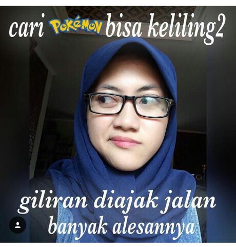 Meme lucu dan gambar lucu Game Pokemon Go yang sedang Hits dan di gandrungi netizen bikin ngakak