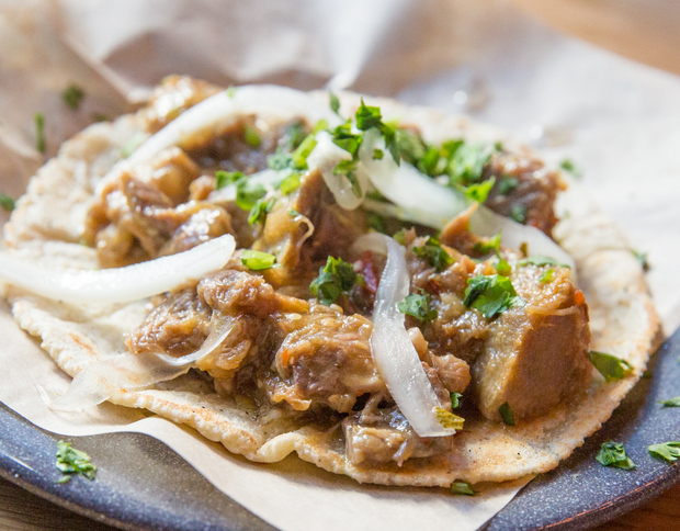 photo of  Beef Tongue Confit Tacos from Bracero