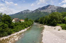 River Saalach in the Alps