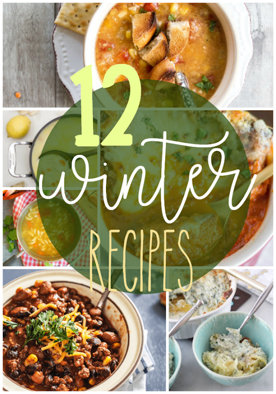 12 Winter Recipes at GingerSnapCrafts.com #recipe #recipes #comfortfoods