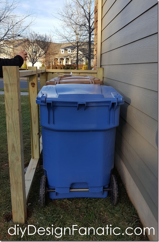 Trash & Recycle Bin enclosure, trash enclosure, trash screen, diyDesignFanatic.com