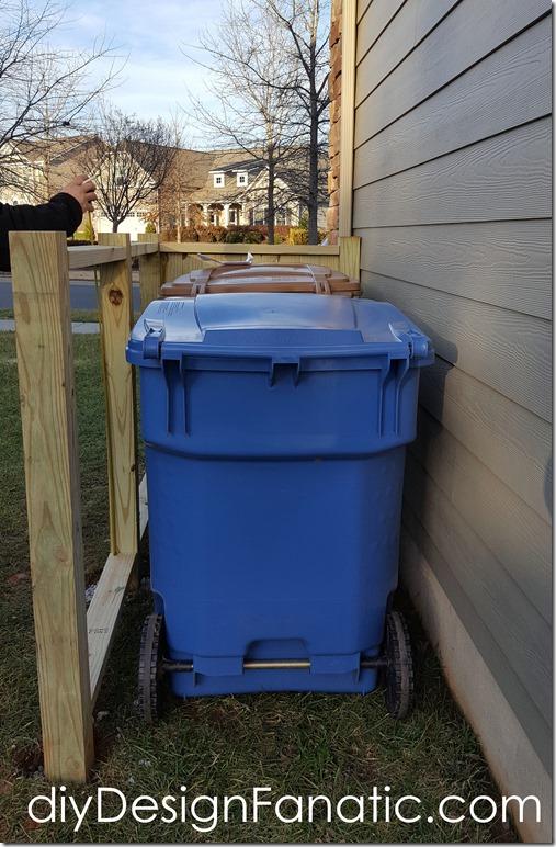 Trash & Recycle Bin enclosure, trash enclosure, trash screen, diyDesignFanatic.com