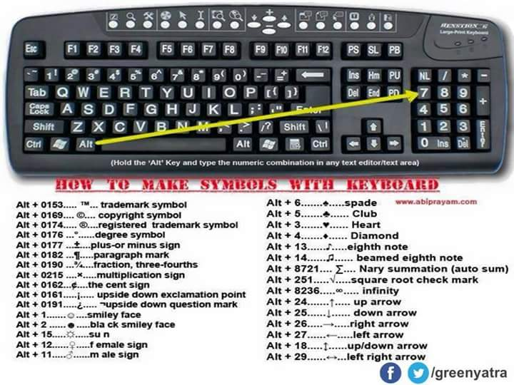 tamil keyboard shortcut keys