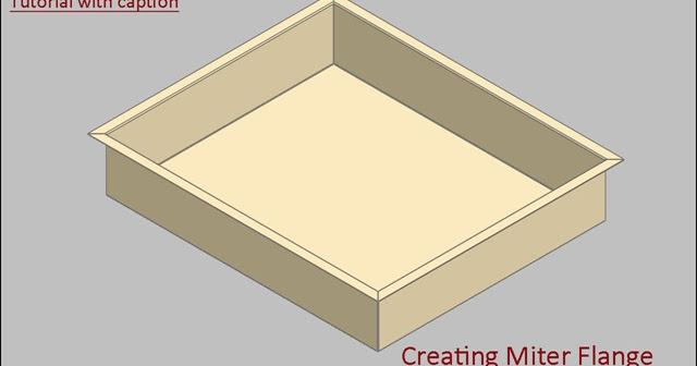 3d Solid Modelling Videos Creating Miter Flange Video