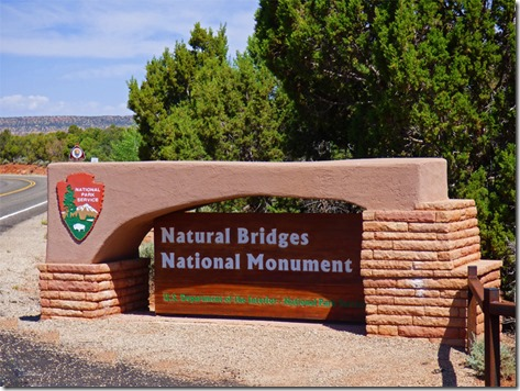 Natural Bridges Entrance Sign