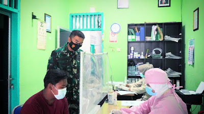 Serbuan Vaksin Ditinjau Dandim 0731/Kulon Progo Dalam Pelaksanaannya